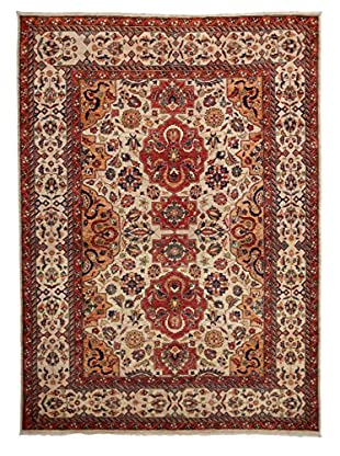Solo Rugs Traditional Hand-Knotted Rug, Light Beige, 5' 8