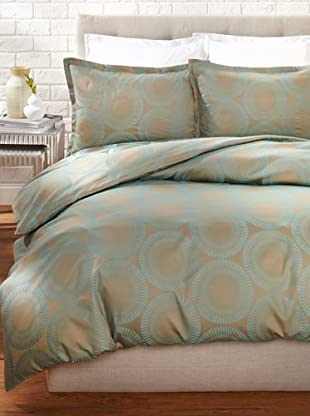 Peacock Alley Cleo Duvet Set (Sea Glass)