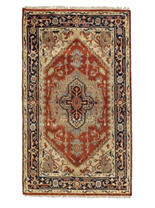 Rug Republic One Of A Kind Indo-Serapi Hand Knotted Rug, Antique Red/Multi, 3' x 5' 2