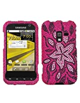 Aimo SAMD600HPCDM168NP Dazzling Diamante Bling Case for Samsung Conquer 4G D600 - Retail Packaging - Tasteful Flowers