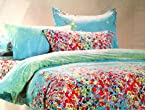 ExpressionHome Contemprory Printed Double Bed Sheet with 2 Pillow Covers
