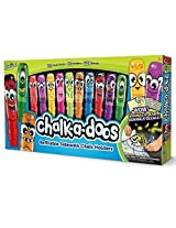 Chalk-a-doos 22 Chalk Sticks 10 Refillable Chalk Holders 228+decals