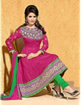 Riti Riwaz Pink Anarkali Designer Suits In Fancy Designs With Duppata Zd1003
