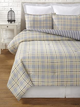 Tommy Hilfiger Spectator Plaid Collection Comforter Set (Khaki Plaid)