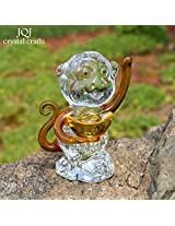 1PC K9 Crystal Lucky Monkey Modle Paperweight Handmade Fengshui Glass Craft