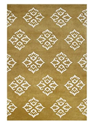Alliyah Rugs New Zealand Wool Rug (Harvest Gold/Melon)