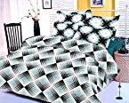 Story@Home Co-ordinated Cotton Double Bedsheet with 2 Pillow Covers - King Size, Blue (FE1066)