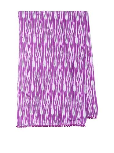 Lulla by Bindya Women's Deeley Pom Pom Scarf, Purple
