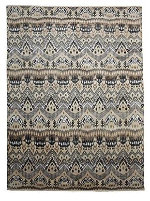 Darya Rugs Ikat Oriental Rug, Light Brown, 9' 1