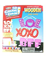 RoseArt 3D Create N Color Wooden Word Series - Texting Words