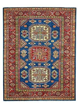 Kalaty One-of-a-Kind Kazak Rug, Blue, 4' x 5' 7