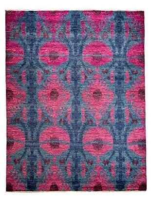 Darya Rugs Ikat Oriental Rug, Fuchsia, 8' x 10' 1