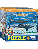 Euro Graphics Sharks Jigsaw Puzzle (100 Piece)