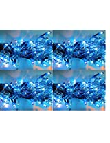 ASCENSION Set of 10 Rice lights Serial bulbs decoration lighting for diwali christmas (Blue)