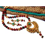 RED AND GREEN TRADITIONAL NECKLACE SET