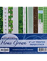 Home Grown, Size 6x6 Inch, Craft Paper - 10 Designs 50 Sheets For Card & Scrapbooking