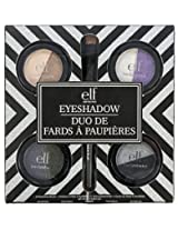e.l.f. 4 Piece Duo Eyeshadow with Brush Set, Everyday