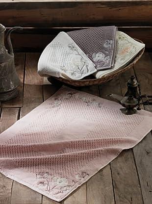 Welcome Home Tappeto Bagno In Cotone Ilayda Cipria 50 x 70 cm