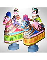 Indian King & Queen /Thanjor Doll/ Handmade Traditional Dolls- Set of 2