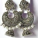 Beautiful Oxidised Silver Chandelier Bali Jhumki Earrings