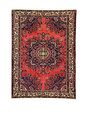 L'Eden del Tappeto Teppich Tafrish rot/dunkelblau/ecru 188t x t142 cm