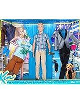 Mattel Barbies Ken Exclusive Doll & California Fashion Pack Set