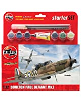 Airfix Boulton Paul Defiant Mk.1 Medium Starter Gift Set 1:72 Plastic Model Kit