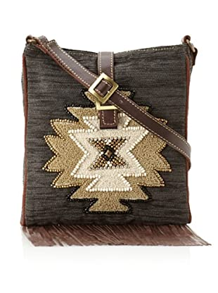 Mare Sole Amore Women's Tribal Cross-Body (Charcoal)