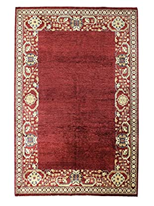 Bashian Rugs Hand Knotted One-of-a-Kind Mansehra Rug, Red, 6' 4