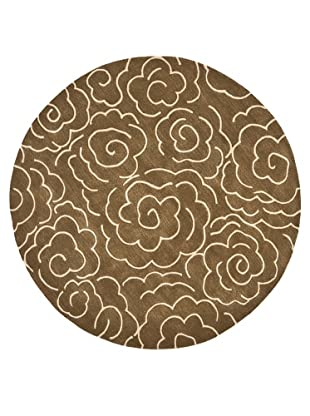 Safavieh Soho Collection Roses New Zealand Wool Rug (Brown/Ivory)