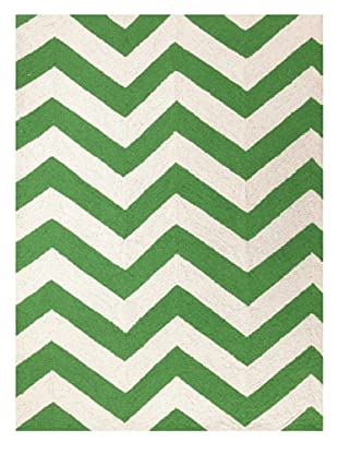 Peking Handicraft Chevron Rug (Green)