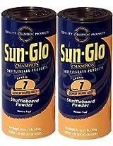 Twin Pack of Sun-Glo #7 Speed Shuffleboard Powder Wax