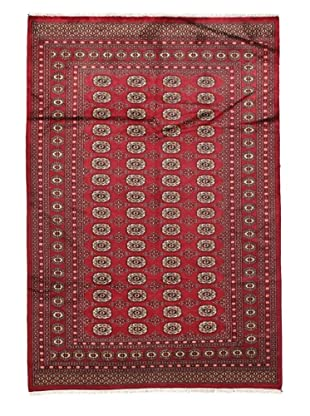 Rug Republic One Of A Kind Bokhara Hand Knotted Rug, Bokhara Red/Multi, 6' 1