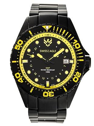 Swiss Eagle Reloj Dive Broadside negro / amarillo