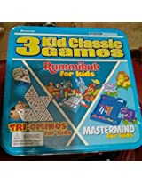 3 Kid Classic Games: Tri-Ominoes for Kids, Rummikub for Kids, and Mastermind for Kids