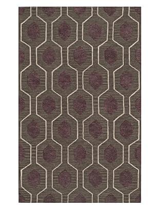 Dalyn Tones Geometric Wool Rug, Charcoal (Charcoal)