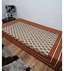 Heritage Fabs Kalmkari Brown And Rust Single Bed Sheet