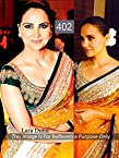 Bollywood Replica Lara Dutta Net Saree In Orange Colour NC1065