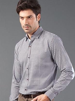 Roberto Verino Camisa Cuadros (Marrón / Azul Cielo)