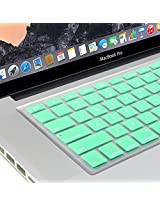 GMYLE Silicon Keyboard Cover for Macbook Air Pro 13 15 15 Pro Retina 17 US model- Mint Green