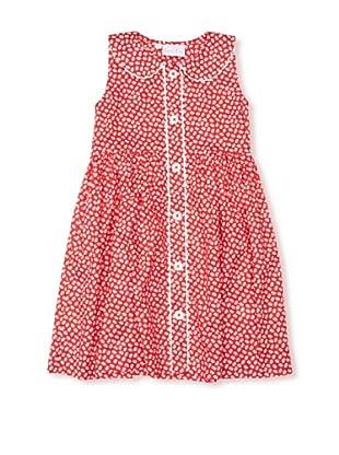 Rachel Riley Vestido Button Up (Rojo / Blanco)