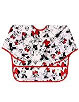 Bumkins Disney Baby Waterproof Sleeved Bib, Minnie Mouse Classic
