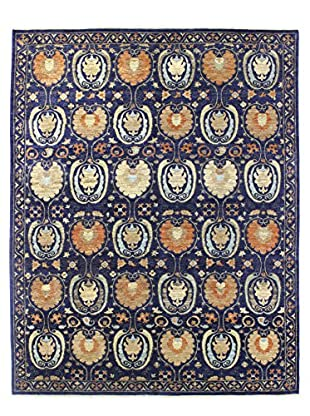 Bashian Rugs One-of-a-Kind Hand Knotted Manali Rug, Navy, 8' x 9' 10