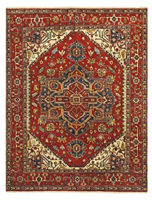 Hand-Knotted Serapi Heritage Wool Rug, Red, 9' 1