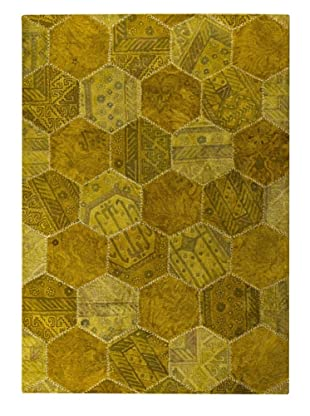 MAT Vintage Honey Comb Rug (Gold)
