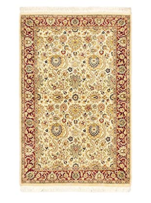 eCarpet Gallery One-of-a-Kind Hand-Knotted Pako Persian Rug, Cream, 4' 1