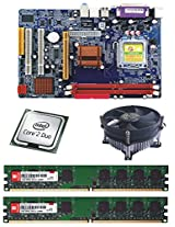 INTEL 945 CHIPSET MOTHERBOARD COMBO WITH DDR2 2GB RAM AND CPU COOLER FAN PLUS ONE FREE CORE2DUO 1.8GHZ CPU