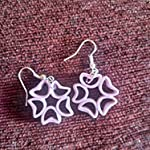 Purple Paper Quilled Traditional Jhumki Earring