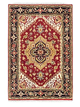 Hand-Knotted Serapi Heritage Rug, Dark Red, 4' x 6'