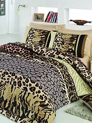 Colors Couture Bettdecke und Kissenbezug Africa